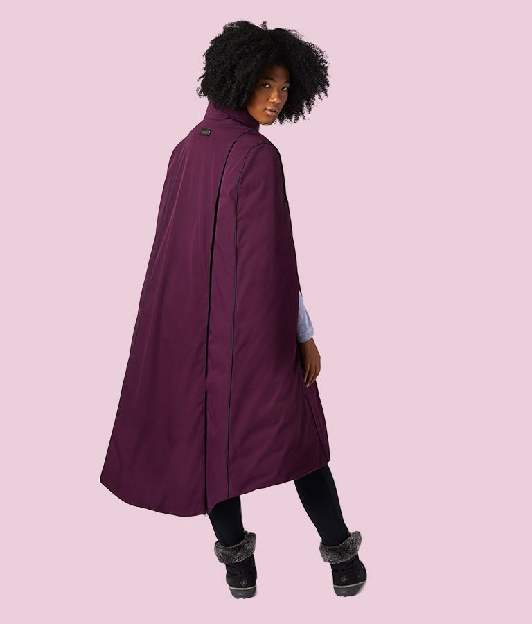 Women's Anna Down Cape back view