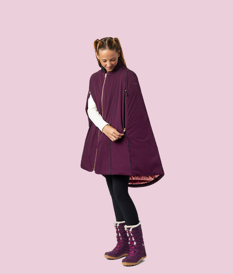 Girls' Anna Down Cape