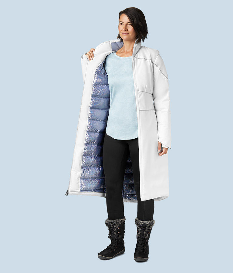 Women's Elsa Down Coat inside view