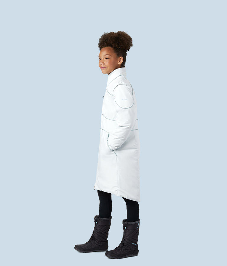 Girls' Elsa Down Coat