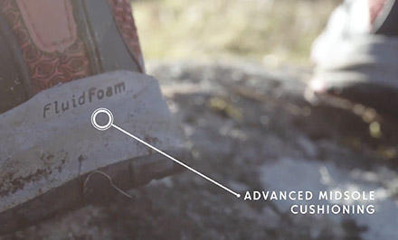 A video still showing how FluidFoam technology functions.