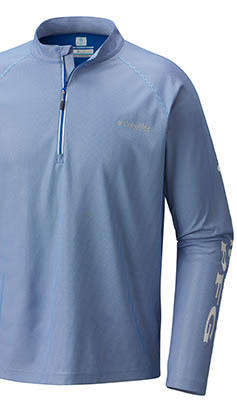 A long-sleeve shirt with Omni-Shade Sun Deflector technology.