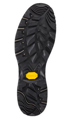Close-up of a Vibram outsole.