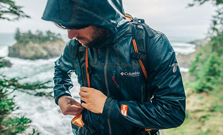 A man wearing an OutDry Extreme jacket.