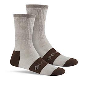 Men's Wool blend Rib Boot Crew Sock - 2 Pack