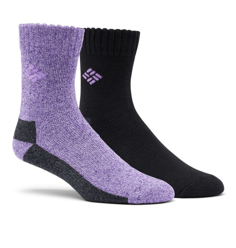Poly/Cotton Thermal 2pk Crew | 530 | O/S Kids' Hike Crew Socks - 2 Pack, Berry, front
