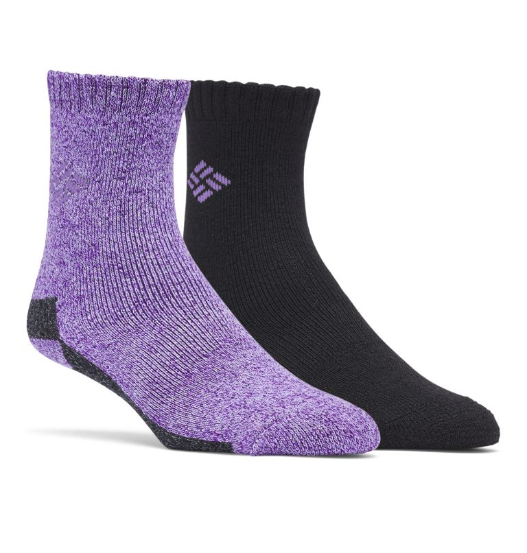Poly/Cotton Thermal 2pk Crew | 530 | O/S Kids' Thermal Crew Socks - 2 Pack, Berry, front