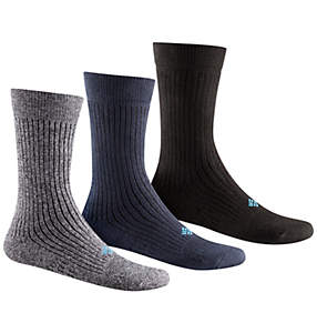 Men's Ribbed Crew Sock - 3 Pack