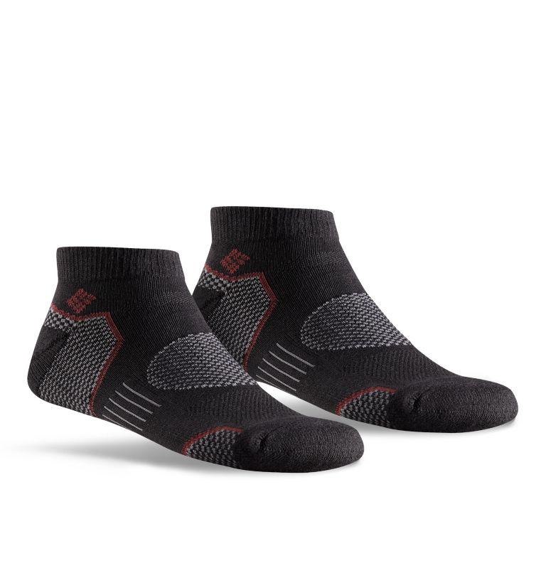 2pk Balance Point Walking Low    010   O/S Men's Balance Point Walking Low Socks - 2 Pack, Black, front