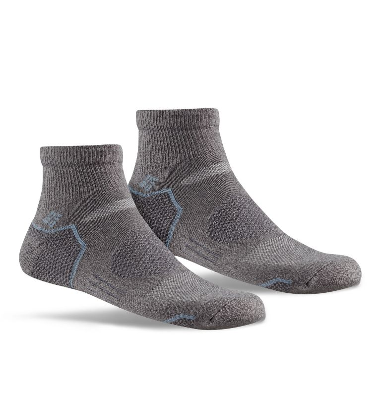 Mens Balance PointT Walking Qu | 030 | O/S Men's Balance Point™ Quarter - 2 Pack, Charcoal, front
