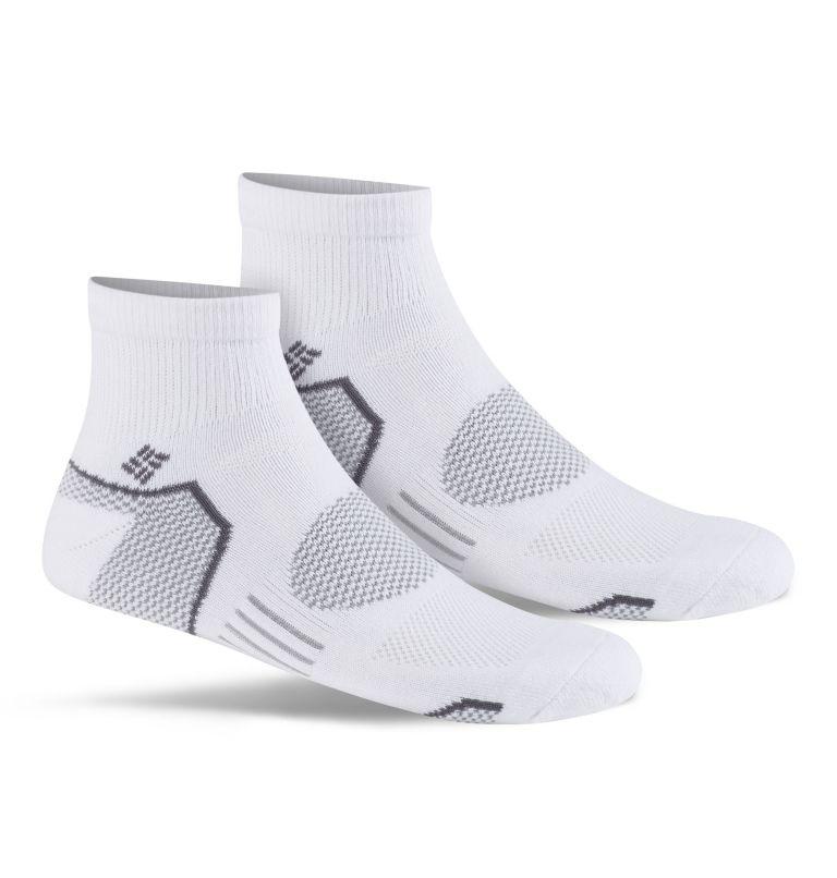 Mens Balance PointT Walking Qu   100   O/S Men's Balance Point™ Quarter - 2 Pack, White, front