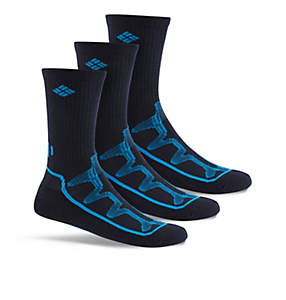 Men's Poly Mesh Rib Crew Sock