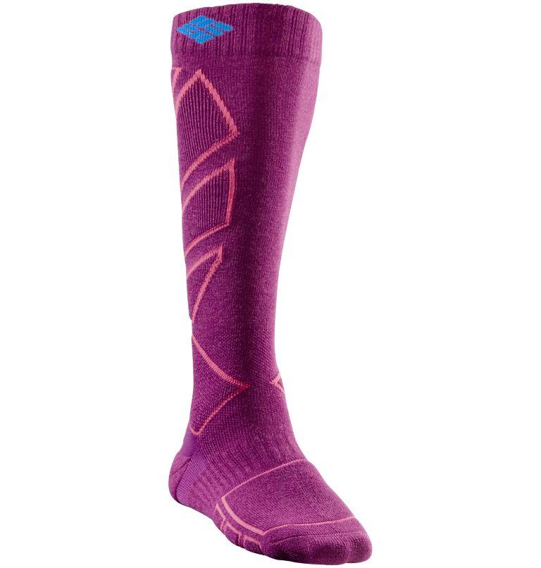 Mittellange Snowboard-Socken für Damen Mittellange Snowboard-Socken für Damen, Vivid Viola, front