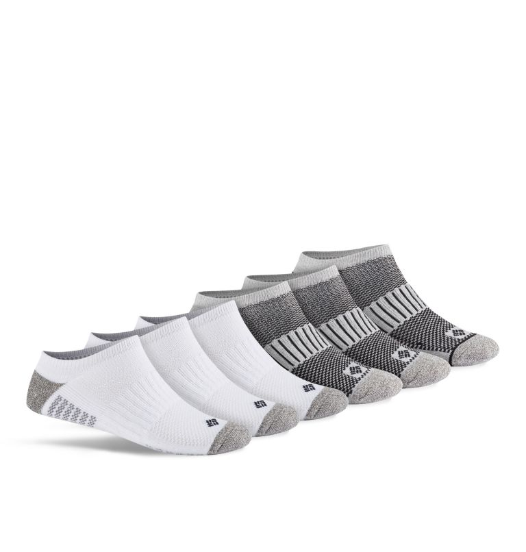 Men's Sport No Show Sock | 101 | O/S Men's Sport No Show Sock, White, front
