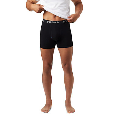 Men's Cotton Stretch Boxer Briefs (3 pack) Men's 3 Pack Tri Blend Striped Boxer Bri | 435 | S, Black, a1