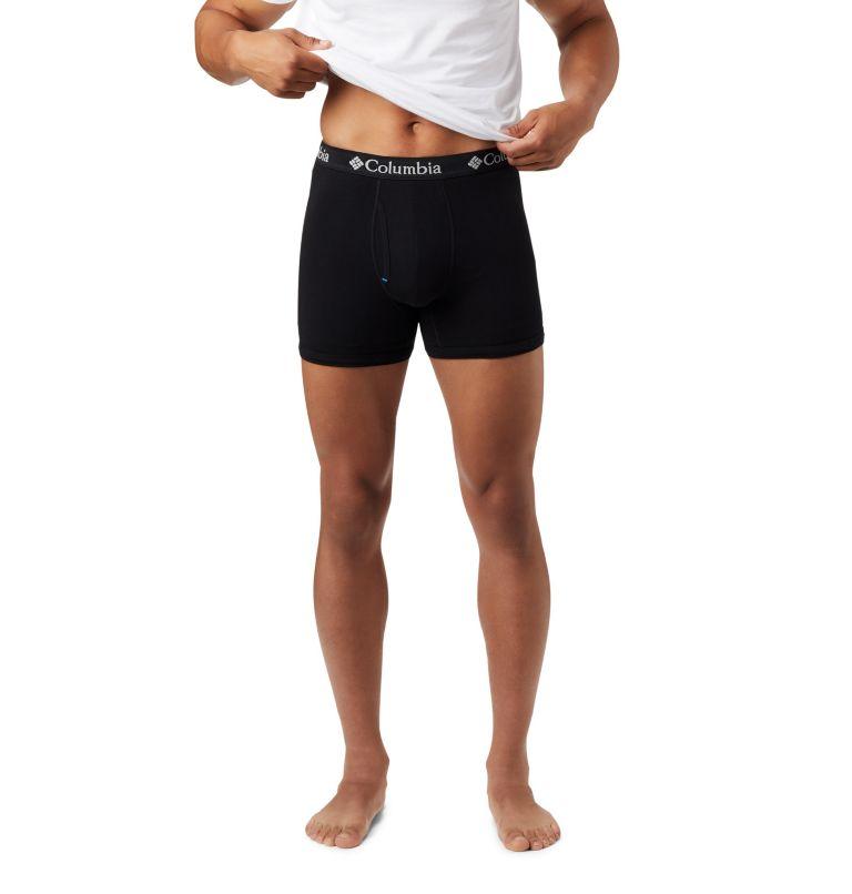 Men's 3 Pack Tri Blend Striped Boxer Bri | 010 | XL Men's Cotton Stretch Boxer Briefs (3 pack), Black, a1