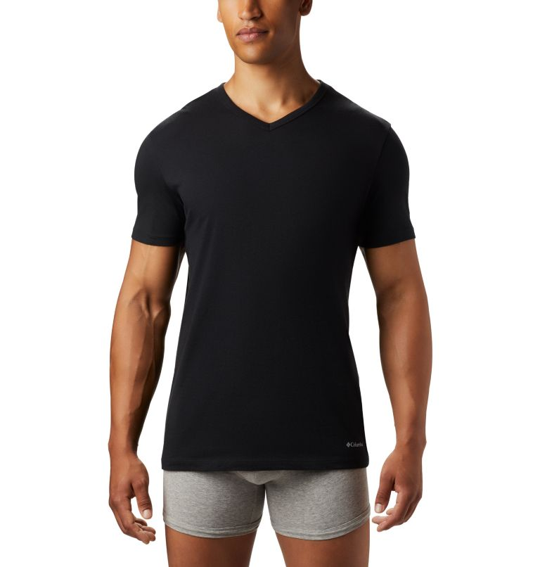 Men's 3 Pack V-Neck Tee Classic Fit | 010 | L Men's Classic Fit V-Neck Tee (3 pack), Black, a1