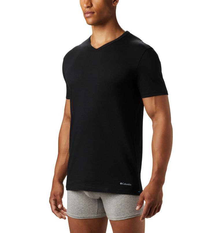 Men's 3 Pack V-Neck Tee Classic Fit | 010 | L Men's Classic Fit V-Neck Tee (3 pack), Black, a3