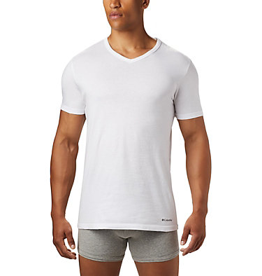 Men's Classic Fit V-Neck Tee (3 pack) Men's 3 Pack V-Neck Tee Classic Fit | 010 | XL, White, a1