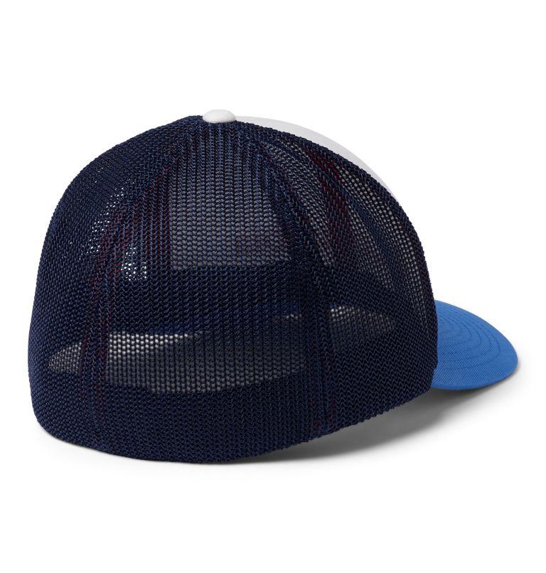 Columbia Mesh™ Ballcap | 102 | L/XL Columbia Mesh™ Ball Cap, White, Coll Navy, Vivid Blue, back
