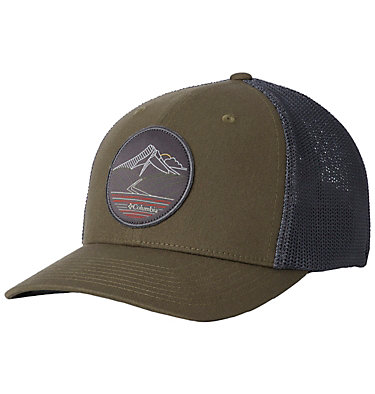Columbia Mesh™ Ball Cap Columbia Mesh™ Ballcap | 214 | S/M, Peatmoss, Line art, front