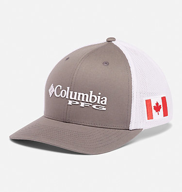 Casquette de baseball PFG Mesh™ PFG Mesh™ Ball Cap | 054 | L/XL, Titanium, Canada Flag, front