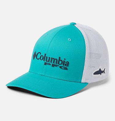 PFG Mesh™ Ball Cap PFG Mesh™ Ball Cap | 010 | S/M, Bright Aqua, White, Coll Navy, Bonefish, front