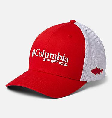 PFG Mesh™ Ball Cap PFG Mesh™ Ball Cap | 010 | S/M, Red Spark, White, Carbon, Striper, front