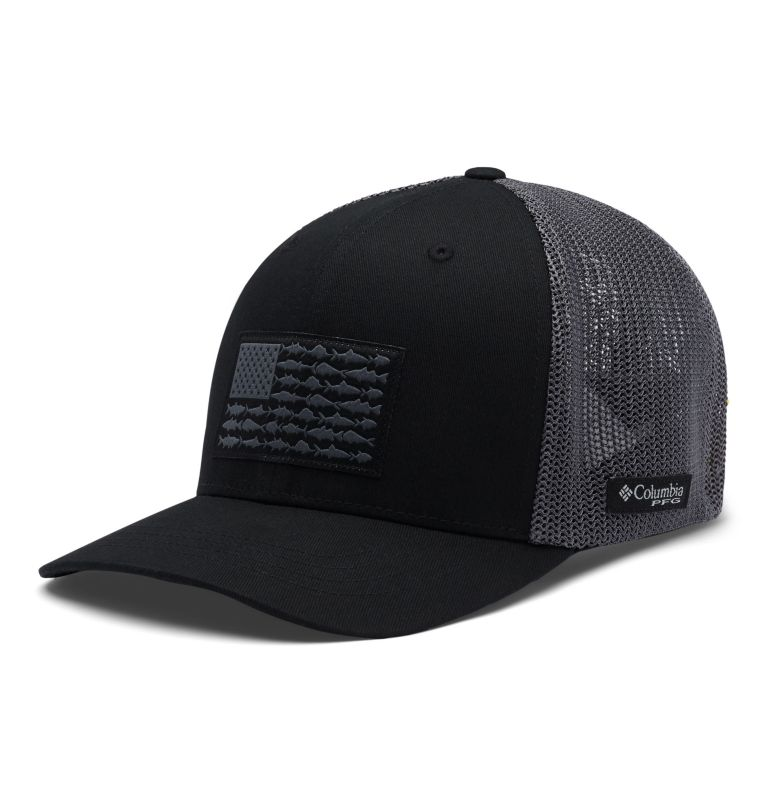 Junior Mesh™ Ball Cap | 013 | O/S Junior Mesh™ Ball Cap, Black, Graphite, Fish, front