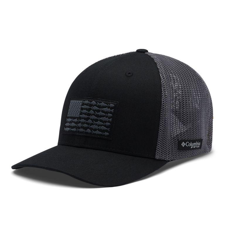 Junior Mesh™ Ball Cap   013   O/S Junior PFG Mesh™ Ball Cap, Black, Graphite, Fish, front
