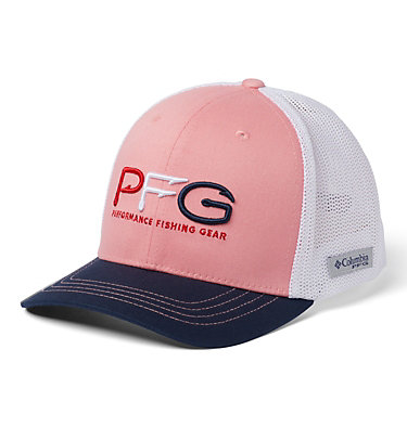 Junior Mesh™ Ball Cap Junior Mesh™ Ball Cap | 689 | O/S, Pink Orchid, Coll Navy, PFG Hook, front