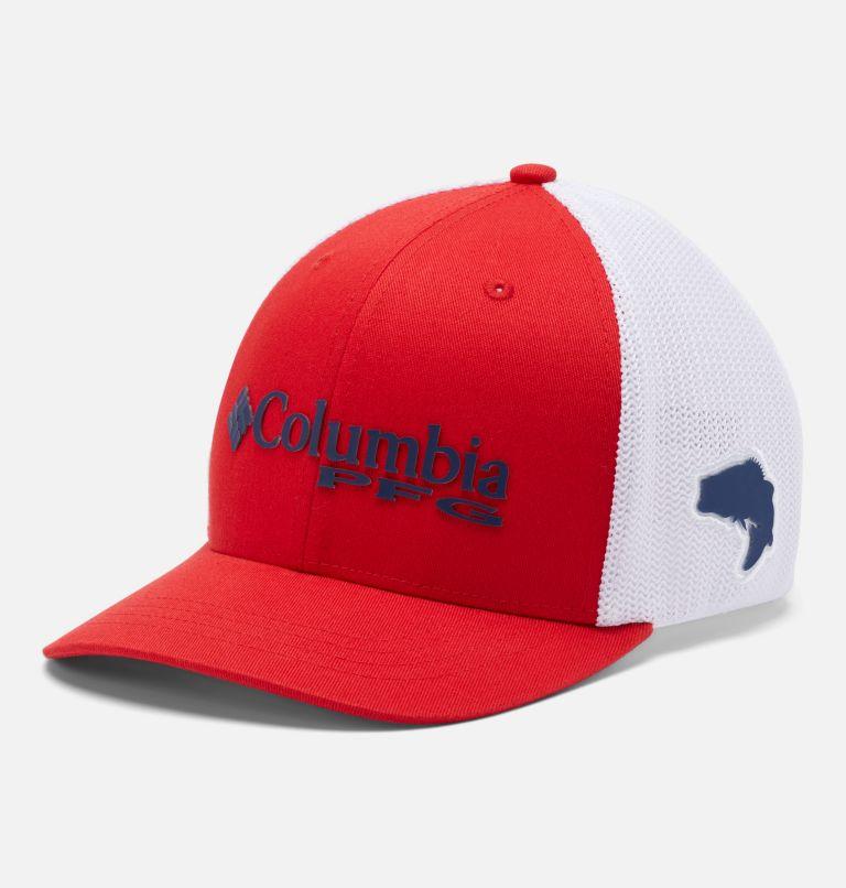 Junior Mesh™ Ball Cap | 697 | O/S Junior PFG Mesh™ Ball Cap, Red Spark, Bass, front