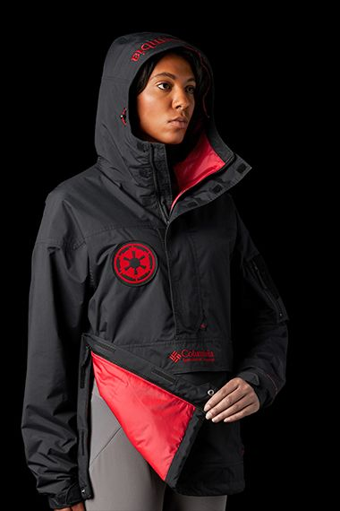 A woman posing in the Challenger Jacket.