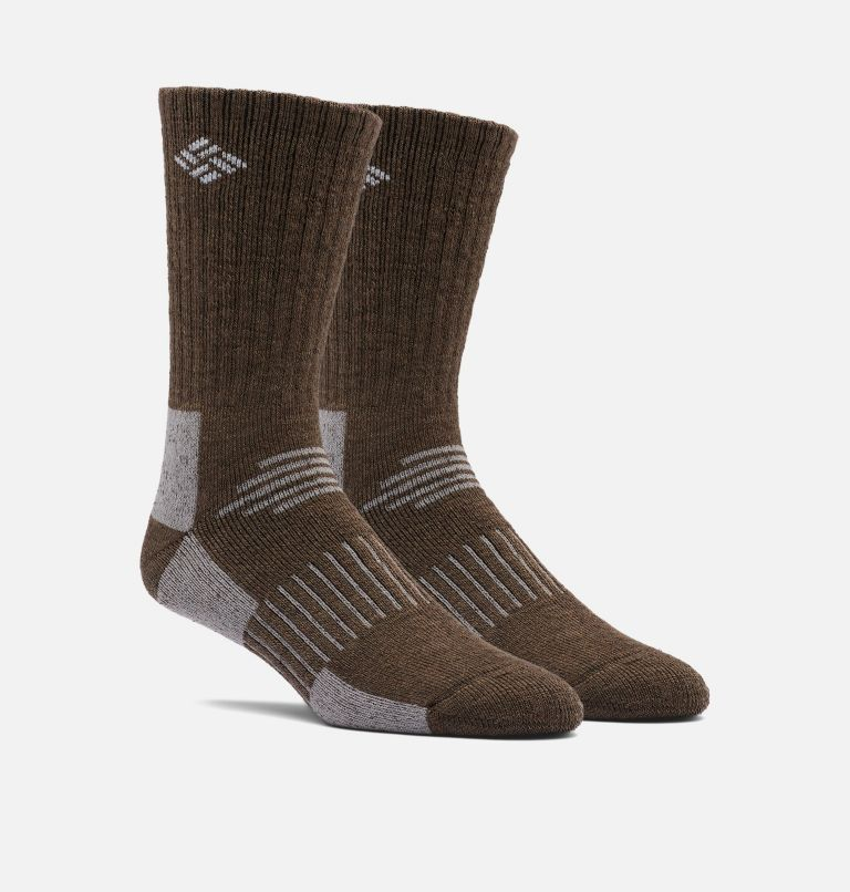 Men's Wool Blend Crew Sock 2 pair | 160 | O/S Men's Wool Blend Crew Sock 2 pair, Fossil, front