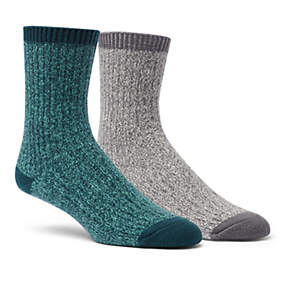 Women's Super-Soft Rib Crew Sock - 2 Pack