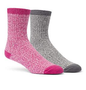 Women's Super-Soft Rib Crew Sock - 2 Pack