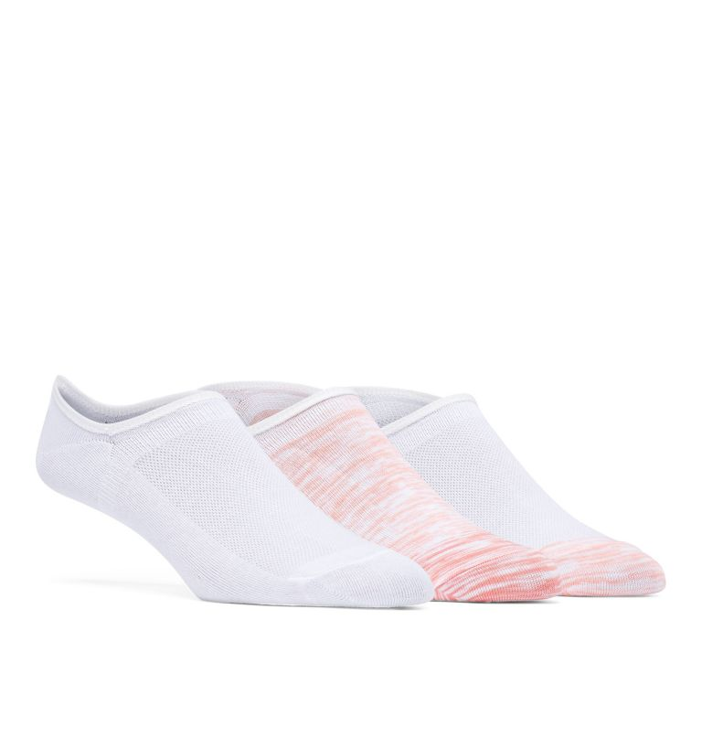 Women's PFG Ombre Sapce Dye No Show - 3 Pack | 807 | O/S PFG Ombre Space Dye No-Show Socks - 3 Pack, Tiki Pink Multi, front
