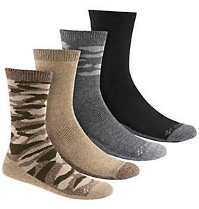 Men's Moisture-Control Camo Crew Sock - 4 Pack