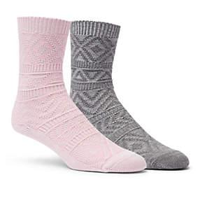 Women's Texture Super-Soft Crew Sock - 2 Pack
