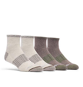 Men's Heather Rib Quarter Sock - 4 Pack