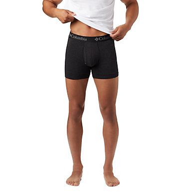 Men's Striped Performance Cotton Stretch Boxer Briefs (3 pack) Men's 3 Pack Tri Blend Striped Boxer Bri | 630 | S, Black, a1