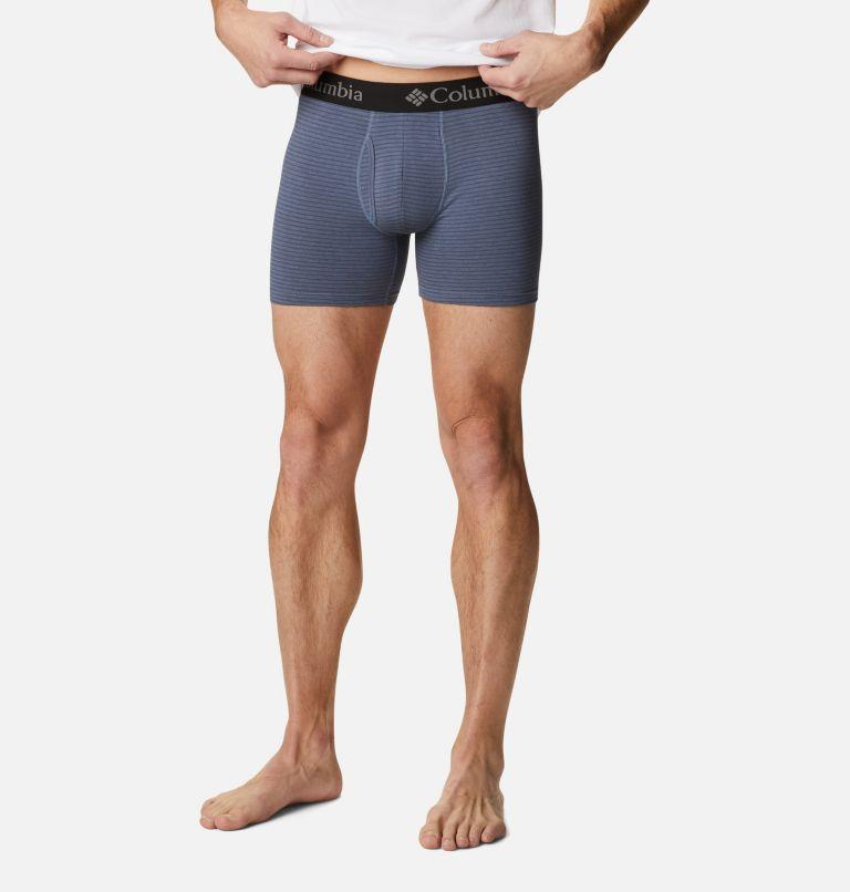 Men's Striped Performance Cotton Stretch Boxer Briefs (3 pack) Men's Striped Performance Cotton Stretch Boxer Briefs (3 pack), back