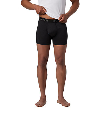 Men's Performance Cotton Stretch Boxer Briefs (3 pack) Men's 3 Pack Tri Blend Boxer Briefs | 010 | M, Black, a1