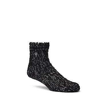 Women's Soft, Slub Crew Socks Women's Soft, Slub Crew Sock | 100 | O/S, Black, front