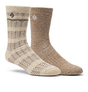 Men's Pattern Stripe Wool Crew Sock - 2 Pack