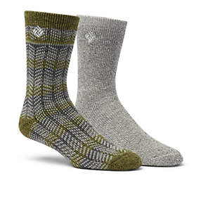 Men's Pattern Stripe Wool Crew Sock - 2 Pack