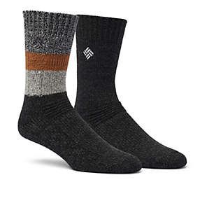 Men's Acrylic/Wool Crew Sock - 2 Pack