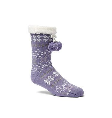 Women's Fair Slipper Socks Women's Fair Isle Slipper Sock | 010 | S/M, Purple, front
