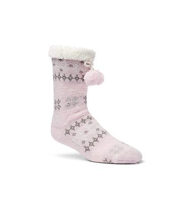 Women's Fair Slipper Socks Women's Fair Isle Slipper Sock | 010 | S/M, Pink, front