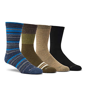 Men's Moisture Control Multi Stripe Crew - 4 Pack